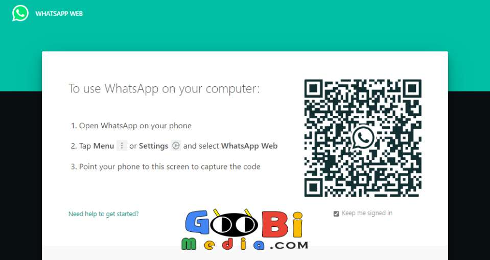 Cara Buka WhatsApp di Laptop Melalui Web Browser 1 GooBiMedia